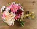 Wedding bouquet of cutting garden flowers