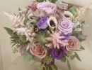 Textured bouquet in lilac and purple