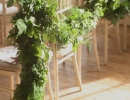 Mixed foliage garlands at Wedderburn Castle