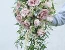 Vintage shower bouquet with jasmine trails