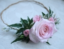 Floral head circlet with roses and jasmine