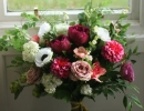 Wild garden style bouquet with ribbon trails