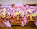 Bridesmaid bouquet of roses
