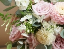 PInk textured wedding flowers