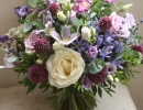 Loose textured bouquet in shades of lilac and purple