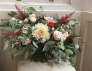 Wild bouquet in dusky pink and burgundy