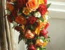 Autumn teardrop bouquet