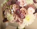 Vintage wedding bouquet Carlowrie Castle