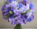 Bouquet of sweet peas and cornflowers