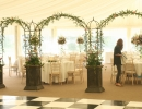 Dunglass Estate wedding centerpiece flowers