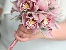 Flower girl wand of cymbidium orchids