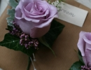 Rose and heather buttonholes