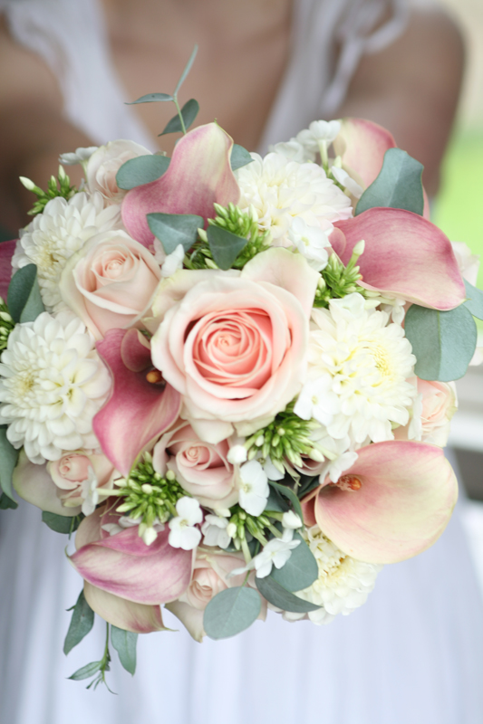 Calla lily wedding bouquet