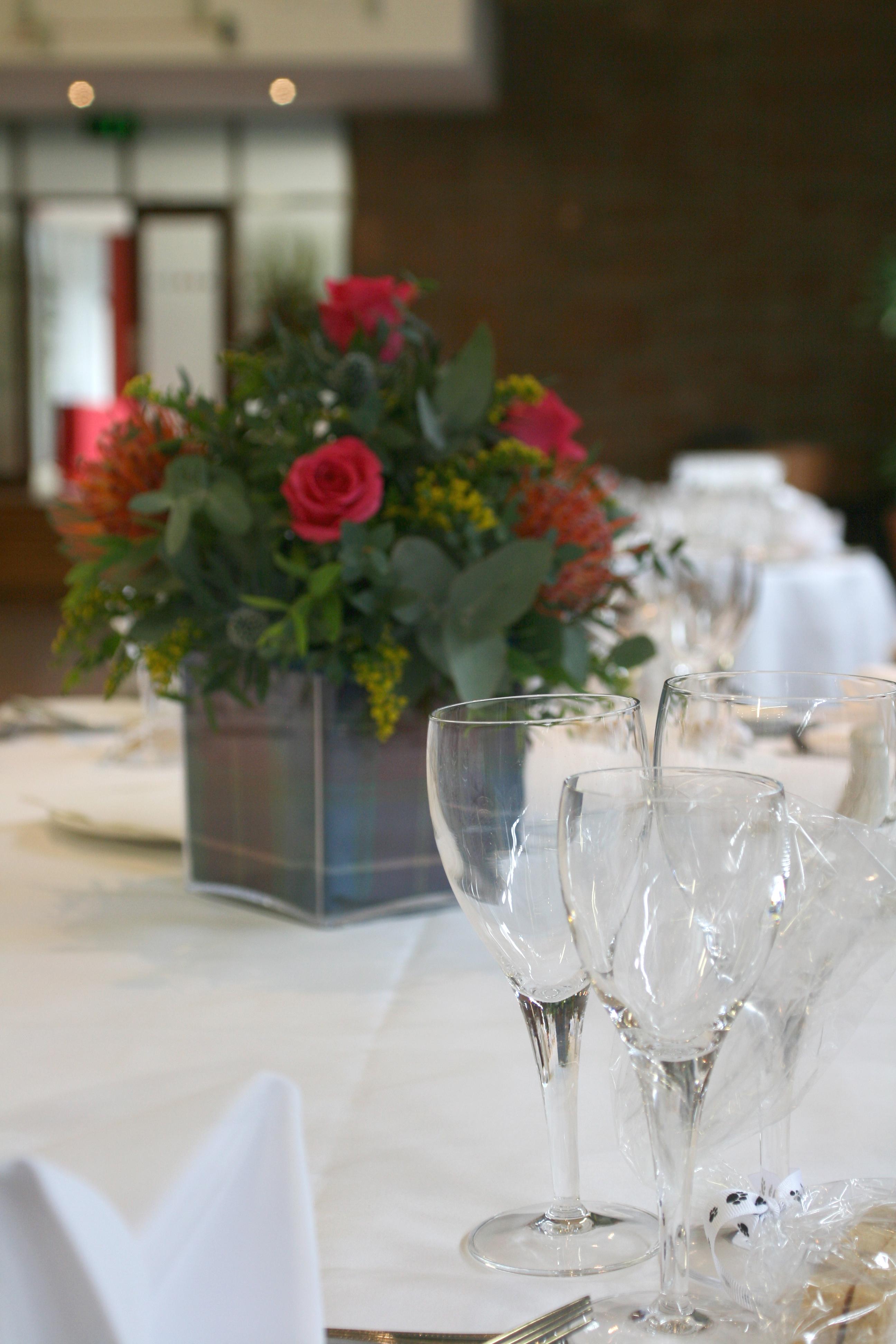 Scottish table arrangements
