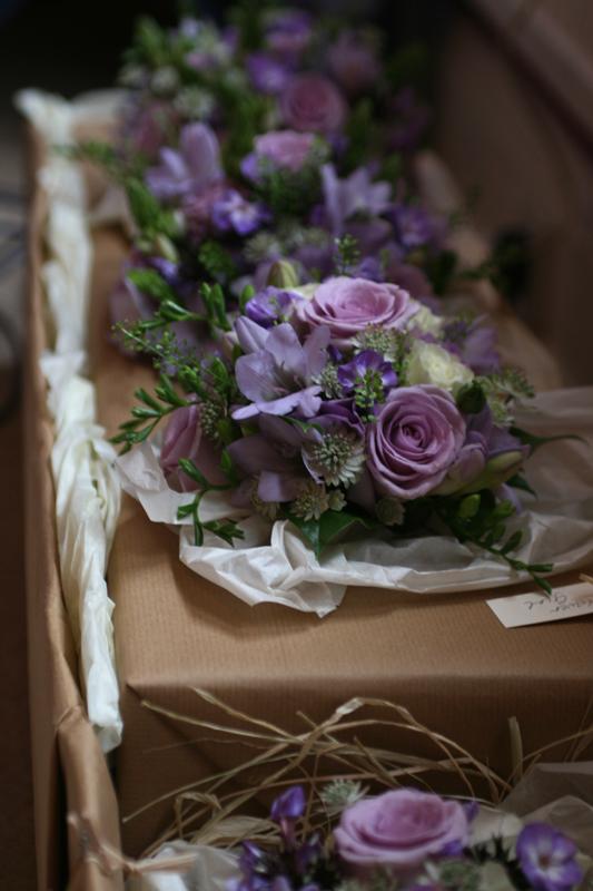 Lilac wedding flowers