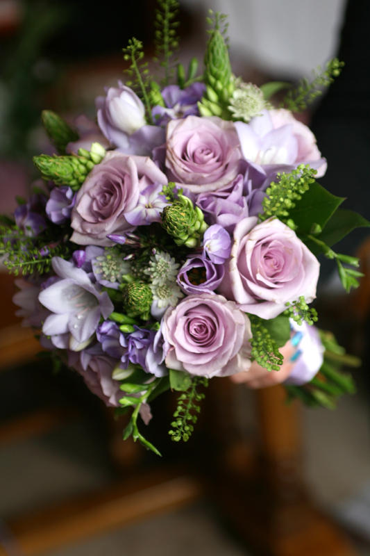 Purple bouquet East Lothian