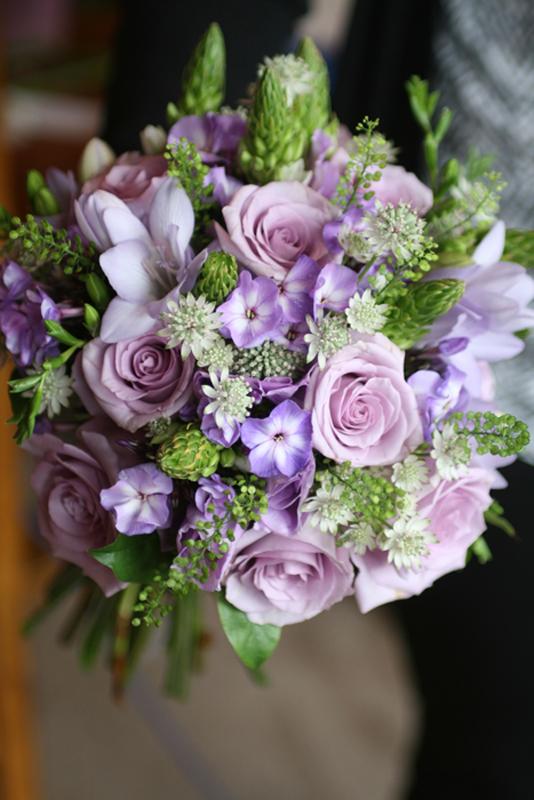 Purple wedding bouquet Edinburgh