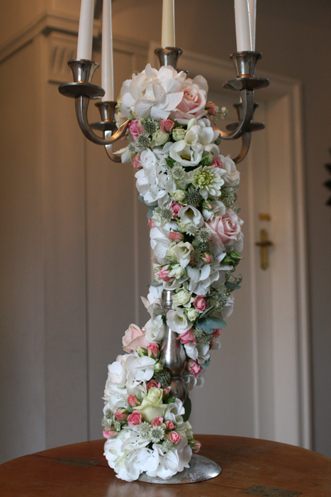 Candelabra with flowers