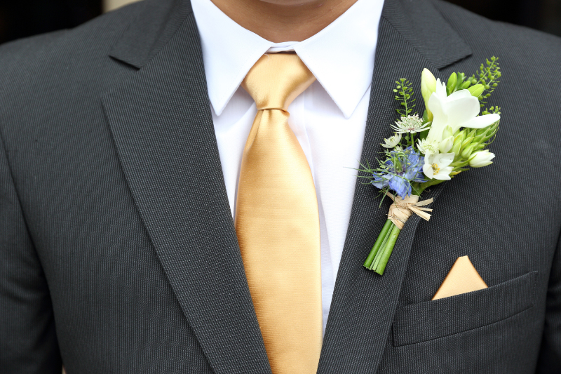 Natural style gents buttonholes
