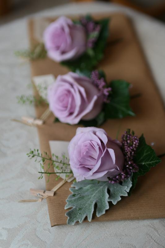 Purple buttonholes