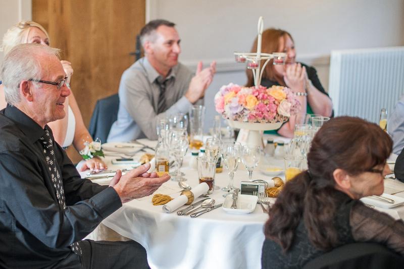 Table arrangements at Glenskirlie Castle wedding