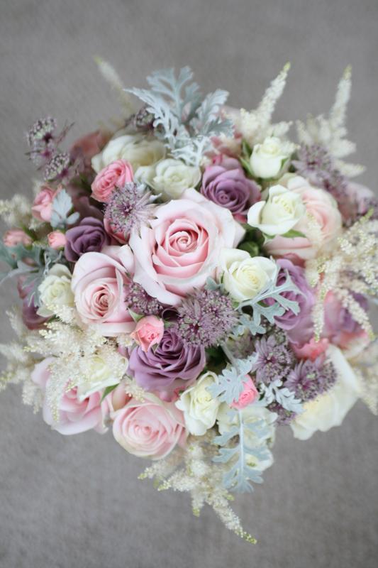 Vintage wedding bouquet Edinburgh