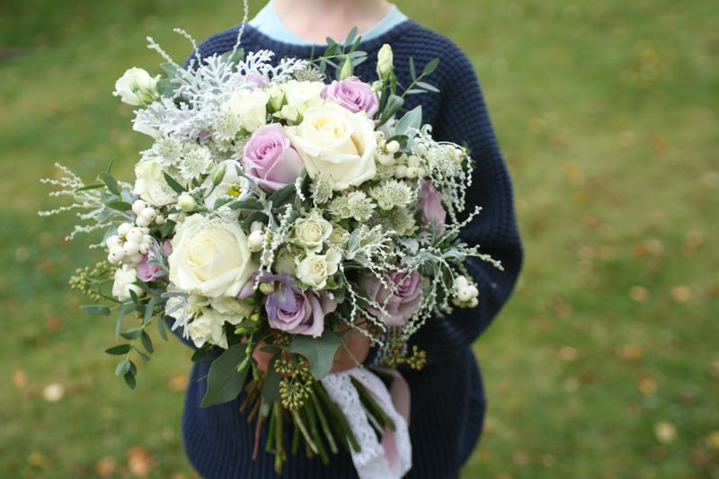 Large wild wedding bouquet East Lothian