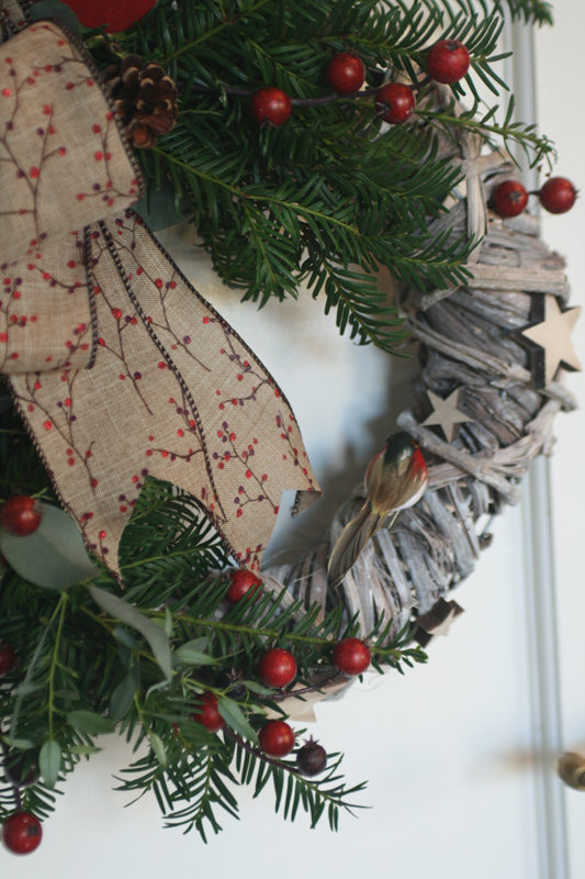 Wicker wreath decoration