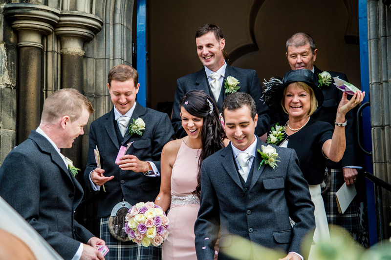 Bridesmaid bouquet and gents buttonholes