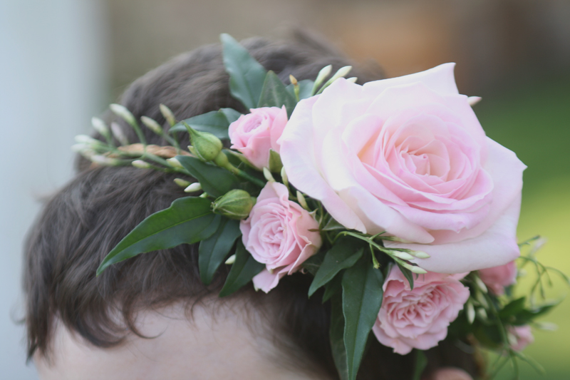 Flower girl hair circlet