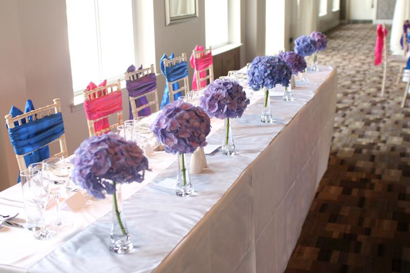 Hydrangea wedding Musselburgh