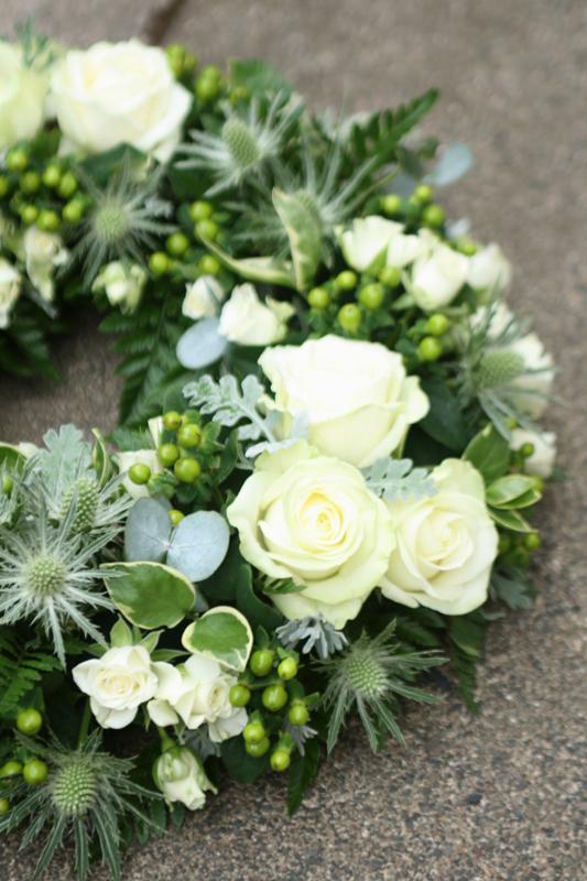 Rustic funeral wreath Musselburgh