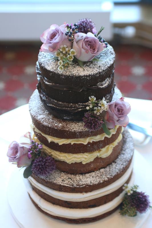 Wedding cake flowers East Lothian