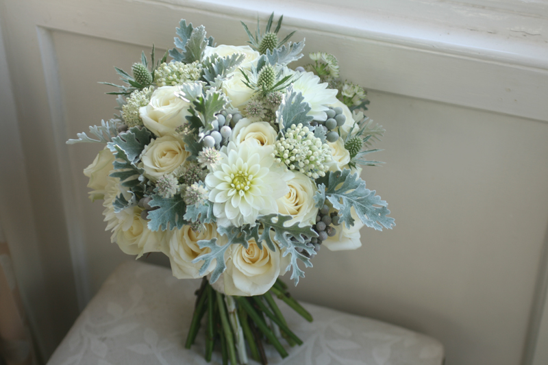White and grey bouquet Edinburgh