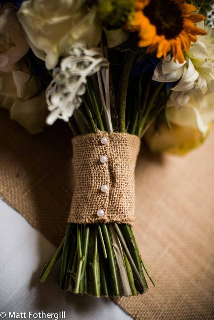 Sunflower wedding bouquet Edinburgh