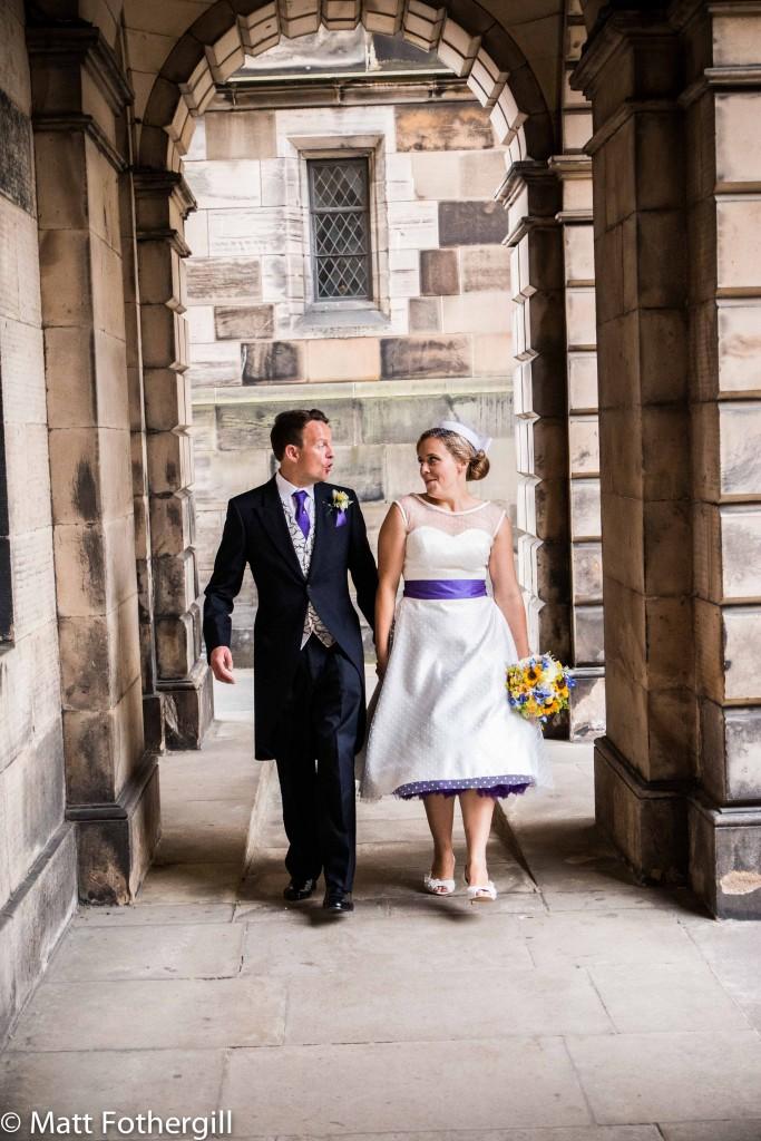 Edinburgh sunflower wedding