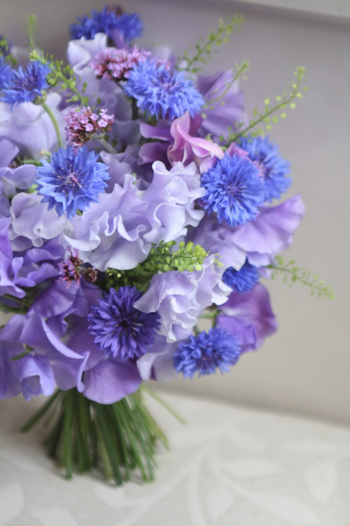 Wedding bouquet of Sweet Peas