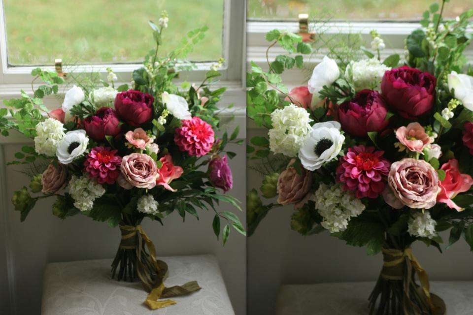 Garden style silk bouquet 11