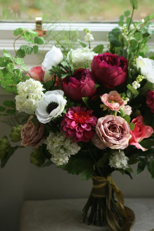Silk wedding bouquet East lothian