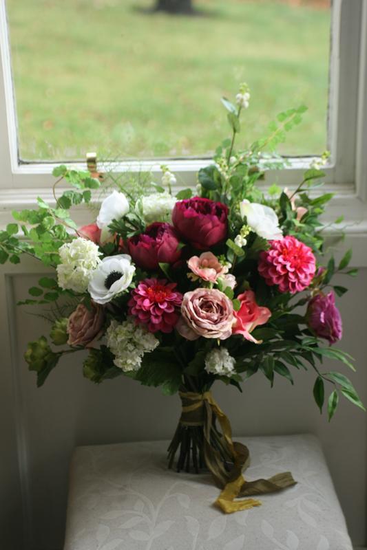 Artificial silk wedding flowers Edinburgh