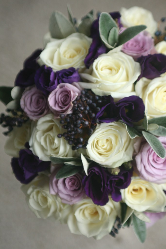 Purple wedding flowers East Lothian