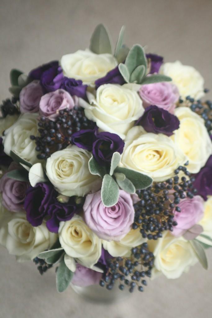 Purple wedding flowers Edinburgh