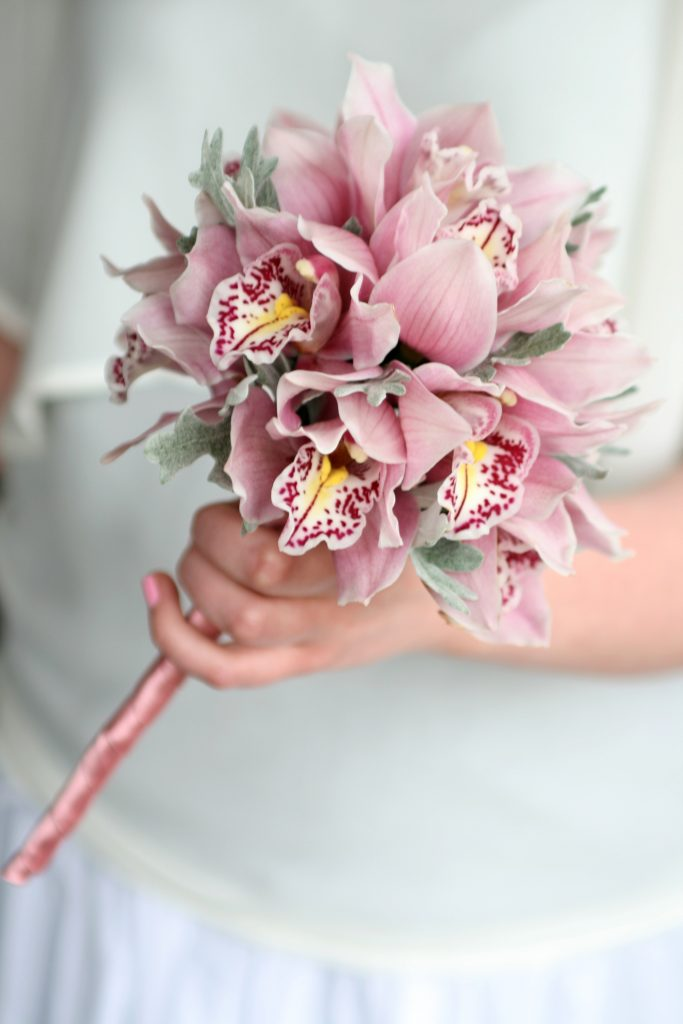 Flower girl posy of orchids 2