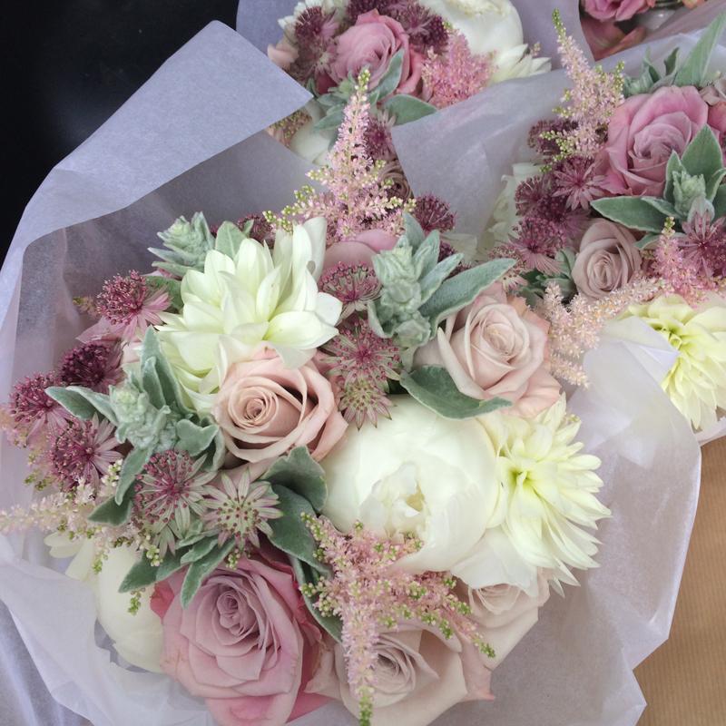 Vintage wedding flowers Edinburgh and East Lothian