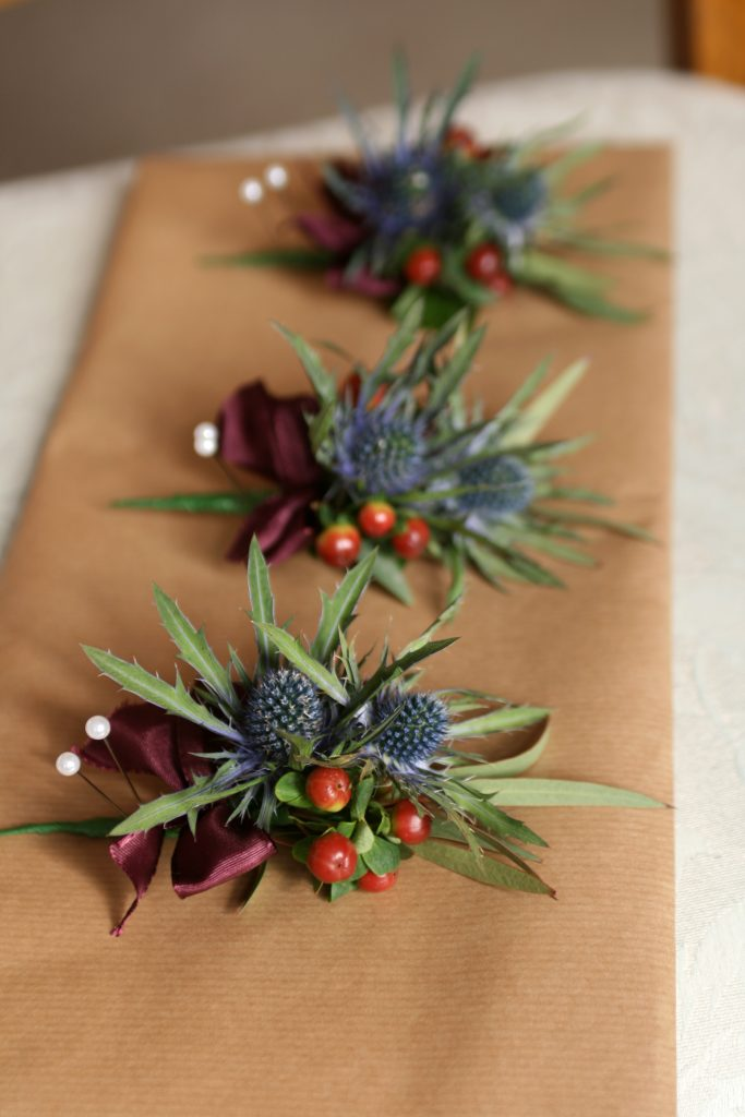 Rustic scottish buttonholes Edinburgh