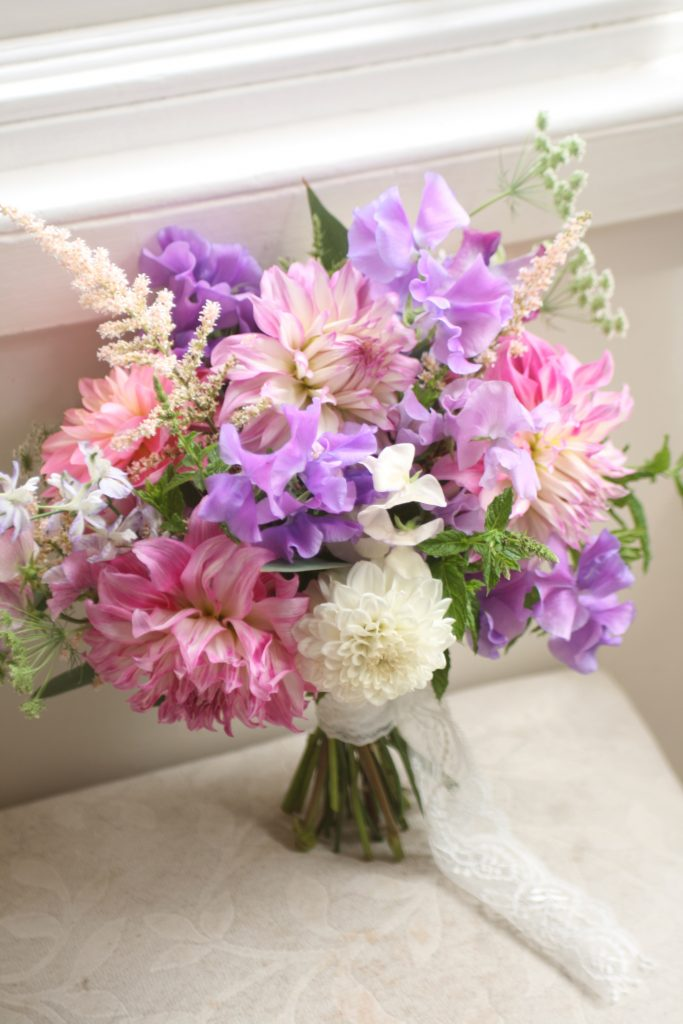 Home grown wedding flowers Edinburgh