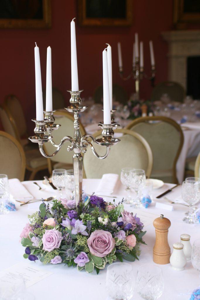 Winton House Wedding Table Arrangements