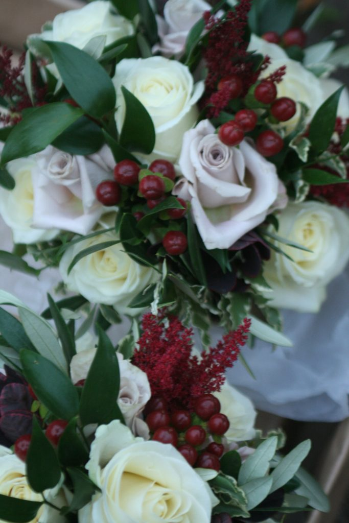 The bridesmaid's bouquet's.