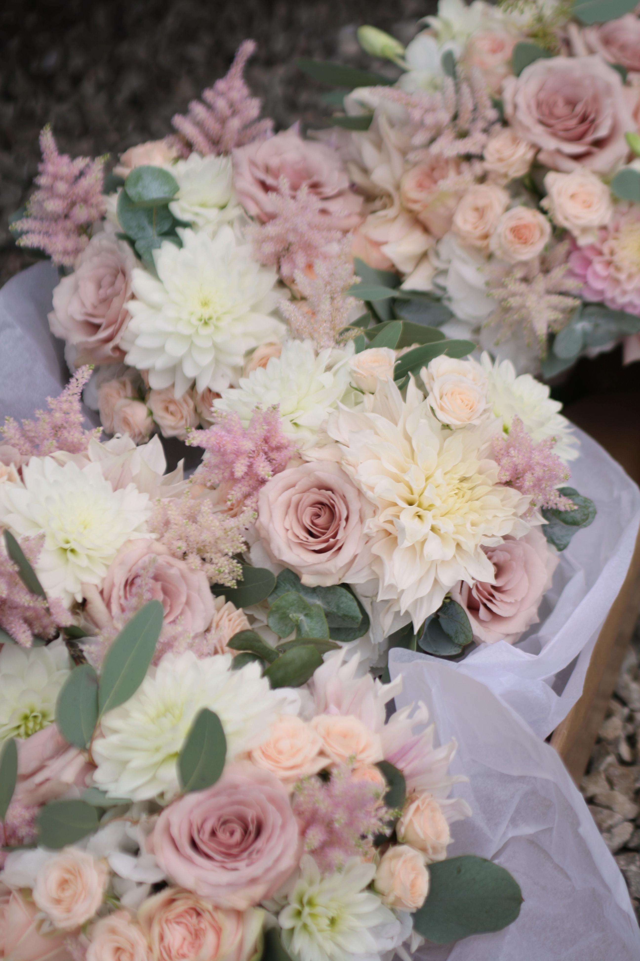 Blush wedding bouquet Edinburgh