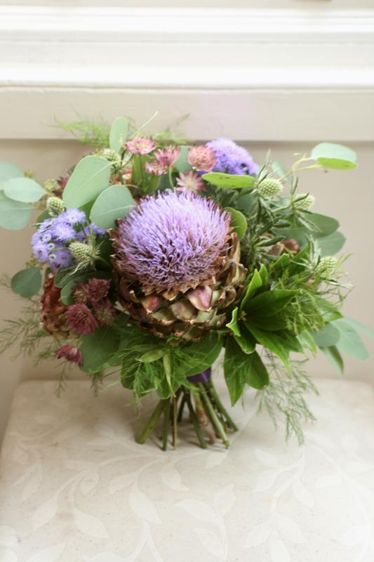 Wild wedding bouquet Edinburgh